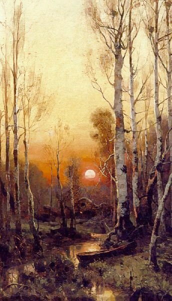 Birch_stream_sunset
